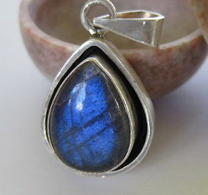 Moonstone silver pendants
